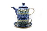 Ceramika Artystyczna Polish Pottery Tea Time for One - Tranquility 423-1858a (Ceramika Artystyczna)