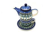 Ceramika Artystyczna Polish Pottery Tea Time for One - Wisteria 423-1473a (Ceramika Artystyczna)