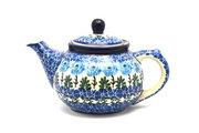 Ceramika Artystyczna Polish Pottery Teapot - 14 oz. - Antique Rose 120-1390a (Ceramika Artystyczna)