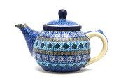 Ceramika Artystyczna Polish Pottery Teapot - 14 oz. - Aztec Sky 120-1917a (Ceramika Artystyczna)