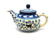 Ceramika Artystyczna Polish Pottery Teapot - 14 oz. - Boo Boo Kitty 120-1771a (Ceramika Artystyczna)