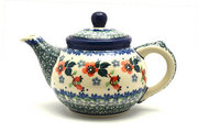 Ceramika Artystyczna Polish Pottery Teapot - 14 oz. - Cherry Blossom 120-2103a (Ceramika Artystyczna)