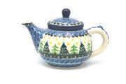 Ceramika Artystyczna Polish Pottery Teapot - 14 oz. - Christmas Trees 120-1284a (Ceramika Artystyczna)