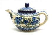 Ceramika Artystyczna Polish Pottery Teapot - 14 oz. - Winter Viola 120-2273a (Ceramika Artystyczna)