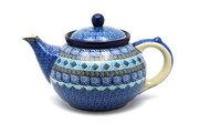 Ceramika Artystyczna Polish Pottery Teapot - 1 1/4 qt. - Aztec Sky 060-1917a (Ceramika Artystyczna)