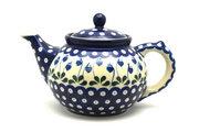 Ceramika Artystyczna Polish Pottery Teapot - 1 1/4 qt. - Bleeding Heart 060-377o (Ceramika Artystyczna)