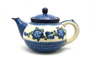Ceramika Artystyczna Polish Pottery Teapot - 1 1/4 qt. - Blue Poppy 060-163a (Ceramika Artystyczna)
