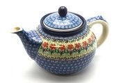 Ceramika Artystyczna Polish Pottery Teapot - 1 1/4 qt. - Maraschino 060-1916a (Ceramika Artystyczna)