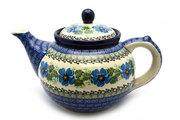 Ceramika Artystyczna Polish Pottery Teapot - 1 1/4 qt. - Morning Glory 060-1915a (Ceramika Artystyczna)