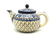 Ceramika Artystyczna Polish Pottery Teapot - 1 1/4 qt. - Primrose 060-854a (Ceramika Artystyczna)