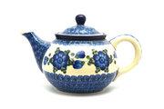Ceramika Artystyczna Polish Pottery Teapot - 3/4 qt. - Blue Poppy 264-163a (Ceramika Artystyczna)