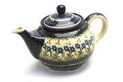 Ceramika Artystyczna Polish Pottery Teapot - 3/4 qt. - Blue Spring Daisy 264-614a (Ceramika Artystyczna)