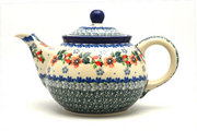 Ceramika Artystyczna Polish Pottery Teapot - 3/4 qt. - Cherry Blossom 264-2103a (Ceramika Artystyczna)