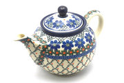 Ceramika Artystyczna Polish Pottery Teapot - 3/4 qt. - Primrose 264-854a (Ceramika Artystyczna)