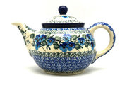 Ceramika Artystyczna Polish Pottery Teapot - 3/4 qt. - Winter Viola 264-2273a (Ceramika Artystyczna)