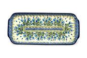 """Ceramika Artystyczna Polish Pottery Tray - Appetizer - 12"""" - Blue Bells 410-1432a (Ceramika Artystyczna)"""