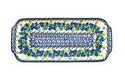 """Ceramika Artystyczna Polish Pottery Tray - Appetizer - 12"""" - Blue Berries 410-1416a (Ceramika Artystyczna)"""