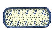 """Ceramika Artystyczna Polish Pottery Tray - Appetizer - 12"""" - Blue Clover 410-1978a (Ceramika Artystyczna)"""