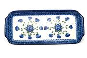 """Ceramika Artystyczna Polish Pottery Tray - Appetizer - 12"""" - Blue Poppy 410-163a (Ceramika Artystyczna)"""