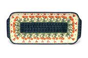 """Ceramika Artystyczna Polish Pottery Tray - Appetizer - 12"""" - Peach Spring Daisy 410-560a (Ceramika Artystyczna)"""
