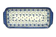 """Ceramika Artystyczna Polish Pottery Tray - Appetizer - 12"""" - Silver Lace 410-2158a (Ceramika Artystyczna)"""