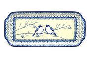 """Ceramika Artystyczna Polish Pottery Tray - Appetizer - 12"""" - Unikat Signature U4830 410-U4830 (Ceramika Artystyczna)"""