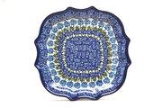 Ceramika Artystyczna Polish Pottery Tray - Serpentine Edge - Antique Rose 507-1390a (Ceramika Artystyczna)