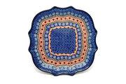Ceramika Artystyczna Polish Pottery Tray - Serpentine Edge - Aztec Sun 507-1350a (Ceramika Artystyczna)