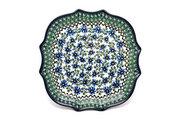 Ceramika Artystyczna Polish Pottery Tray - Serpentine Edge - Blue Chicory 507-976a (Ceramika Artystyczna)