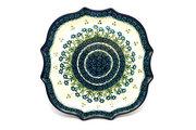 Ceramika Artystyczna Polish Pottery Tray - Serpentine Edge - Blue Spring Daisy 507-614a (Ceramika Artystyczna)
