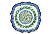 Ceramika Artystyczna Polish Pottery Tray - Serpentine Edge - Ivy Trail 507-1898a (Ceramika Artystyczna)