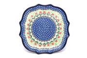 Ceramika Artystyczna Polish Pottery Tray - Serpentine Edge - Maraschino 507-1916a (Ceramika Artystyczna)