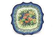 Ceramika Artystyczna Polish Pottery Tray - Serpentine Edge - Unikat Signature U4400 507-U4400 (Ceramika Artystyczna)
