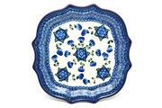 Ceramika Artystyczna Polish Pottery Tray - Serpentine Serving - Blue Poppy 507-163a (Ceramika Artystyczna)