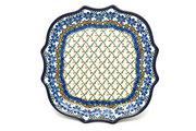 Ceramika Artystyczna Polish Pottery Tray - Serpentine Serving - Primrose 507-854a (Ceramika Artystyczna)