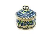 Ceramika Artystyczna Polish Pottery Trinket Box - Blue Berries 110-1416a (Ceramika Artystyczna)