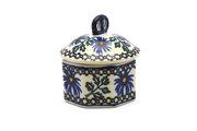 Ceramika Artystyczna Polish Pottery Trinket Box - Blue Chicory 110-976a (Ceramika Artystyczna)