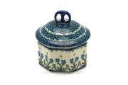 Ceramika Artystyczna Polish Pottery Trinket Box - Blue Spring Daisy 110-614a (Ceramika Artystyczna)