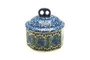 Ceramika Artystyczna Polish Pottery Trinket Box - Peacock Feather 110-1513a (Ceramika Artystyczna)