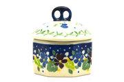 Ceramika Artystyczna Polish Pottery Trinket Box - Plum Luck 110-2509a (Ceramika Artystyczna)