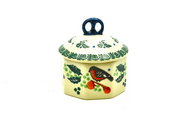 Ceramika Artystyczna Polish Pottery Trinket Box - Red Robin 110-1257a (Ceramika Artystyczna)