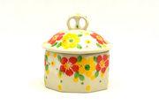 Ceramika Artystyczna Polish Pottery Trinket Box - Spring Blossom 110-2518q (Ceramika Artystyczna)