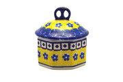 Ceramika Artystyczna Polish Pottery Trinket Box - Sunburst 110-859a (Ceramika Artystyczna)