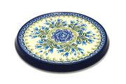 Ceramika Artystyczna Polish Pottery Trivet - Blue Bells 277-1432a (Ceramika Artystyczna)