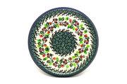 Ceramika Artystyczna Polish Pottery Trivet - Burgundy Berry Green 277-1415a (Ceramika Artystyczna)