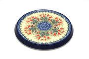 Ceramika Artystyczna Polish Pottery Trivet - Crimson Bells 277-1437a (Ceramika Artystyczna)