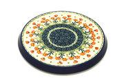 Ceramika Artystyczna Polish Pottery Trivet - Peach Spring Daisy 277-560a (Ceramika Artystyczna)