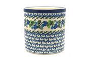 Ceramika Artystyczna Polish Pottery Utensil Holder - Blue Berries 003-1416a (Ceramika Artystyczna)