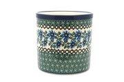 Ceramika Artystyczna Polish Pottery Utensil Holder - Blue Chicory 003-976a (Ceramika Artystyczna)