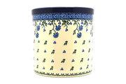 Ceramika Artystyczna Polish Pottery Utensil Holder - Blue Clover 003-1978a (Ceramika Artystyczna)
